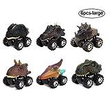 Yeelan 6pcs pousser et aller voitures de dinosaure alimentés par friction camion de...