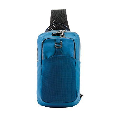 Pacsafe Venturesafe X Sling Pack Anti-Diebstahl Umhängetasche für Rechts- als auch Linkshänder geeignet, Diebstahlschutz - Sling Bag, Blau/Blue Steel -