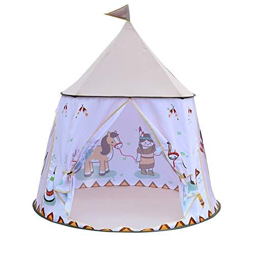 LVLUOYE Zelt für Kinder Verträumtes Rundes Zelt, Babyfreudiges Theater Aus Den Überraschungen Der Eltern, Privater Raum Für Kinder - 3x4 Wachsen Zelt
