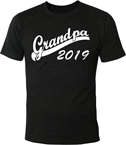 Mister Merchandise Herren Men T-Shirt Grandpa 2019 Tee Shirt bedruckt Schwarz