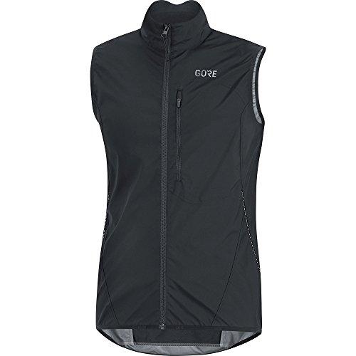 GORE Wear Winddichte Herren Fahrrad-Weste, C3 GORE WINDSTOPPER Light Vest, L, Schwarz, 100039