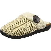 Dearfoams Knit Closed Toe Scuff with Memory Foam - Zapatillas Bajas para Mujer
