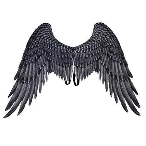 Kostüm Bilder Mardi Gras - YusellYu ❦❦Kids Wings Halloween Mardi Gras Cosplay Pretend Play Dress Up Costume Accessory (Schwarz)