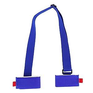 Dilwe Ski Schultergurt, Verstellbarer Ski Träger Gurtel Ski Pole Träger Schultergurt mit gepolstert für Snowboard Skateboard Yogamatte