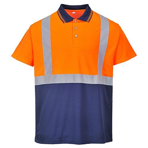Portwest S479hi-vis Tone Polo, Farbe, Größe XL orange / Marineblau