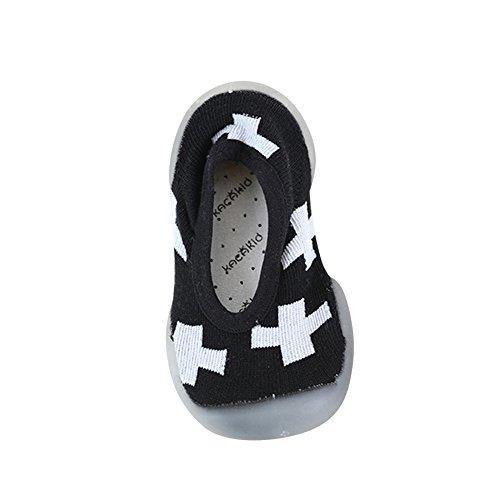 Zapatillas Deportivas de Niños, Zapatos Casual Comódo Confort Zapatillas de Deporte para Unisex Niños Niñas Negro Blanco 1 21