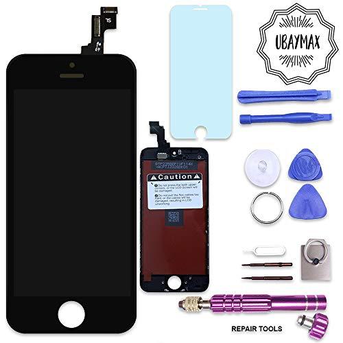 UBaymax Kit de Remplacement Ecran Compatible iPhone 5S Noir avec Outils Aimantés et LCD Tactile