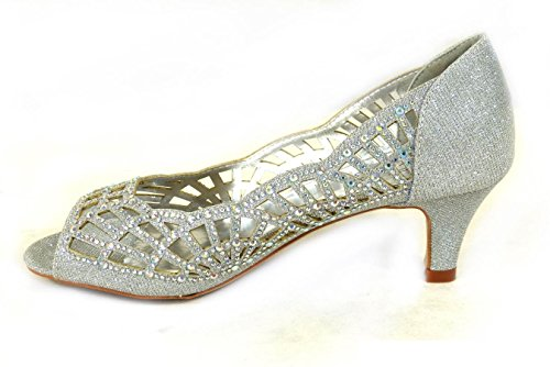 SKO'S , Mary Janes pour femme Silver (MSM98-28)