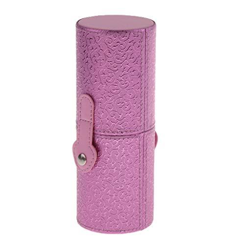 Porte-brosse de Maquillage Tube de Stockage Cas Cylindre de Support Cosmétique - Rose