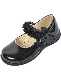 lisianthus002Kid 's Uniforme Flat Niñas Negro Mary Jane Escuela Zapatos