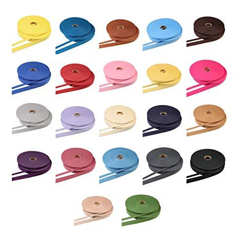 Für Kostüm Verkauf Kombinieren Sie - Neotrims Veloursleder-Band, zwei Größen 10 mm und 20 mm, 22 Farben, stark, weiches Glattleder Biegsames 2 mm dickes Kunstwildband für Mehrzweck-Handwerk. 20mm - 22 metres (24 yards) Choc Circles