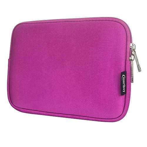 Emartbuy Laptop Neoprene Sleeve case with Zip for Datawind Ubislate 9W (Hot Pink Plain - 8 Inch)