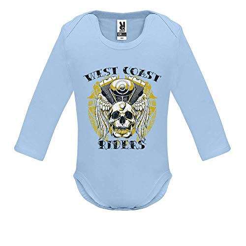Body bébé - Manche Longue - West Coast Riders - Bébé Garçon - Bleu - 3MOIS