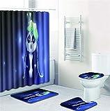 EMG Polyester Faser Badezimmer Vorhang Badezimmer Wolldecken Toiletten Sitz Kissen 16 Stück Satz Kreative Niedlicher Panda Series
