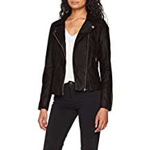 Only Onlsaga Faux Leather Biker CC Otw, Chaqueta para Mujer
