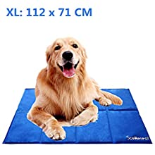 SCENEREAL Dog Cooling Mat 112x71cm Non-Toxic Ice Gel Pad for Dogs Cats in Summer