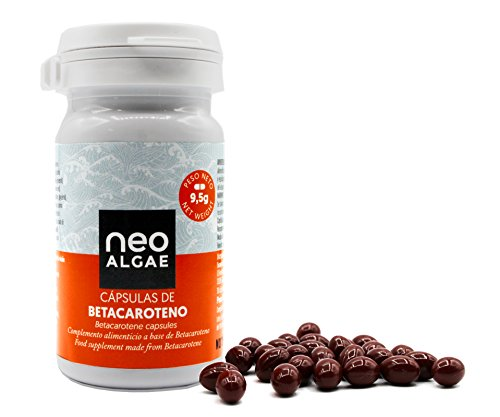 Neoalgae Beta-carotene capsules | Natural tanning | Antioxidant | 30 Pearl-shaped capsules with a high content of beta-carotene from the microalga Dunaliella salina