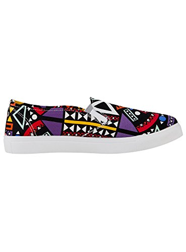 oodji Ultra Donna Slip-on Stampate in Tela Multicolore (2919G)