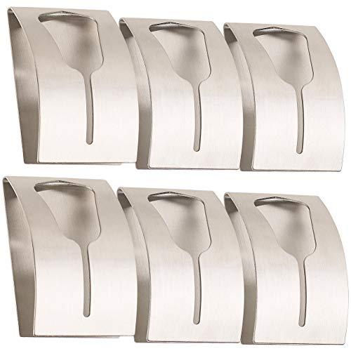 Carlo Milano Klebehaken: 6er-Set Handtuchhalter aus rostfreiem Edelstahl, selbstklebend (Handtuchhalter Wand)