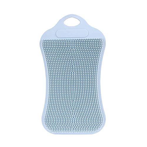 EUTUOPU 1Pc Silicone Dish Washing Sponge Scrubber Kitchen Cleaning Antibacterial Tool (Gray) Oxo Steel Tool-rack