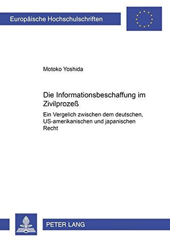 haffung im Zivilprozeß: Ein Vergleich zwischen dem deutschen, US-amerikanischen und japanischen Recht (Europäische ... / Series 2: Law / Série 2: Droit, Band 3185) ()