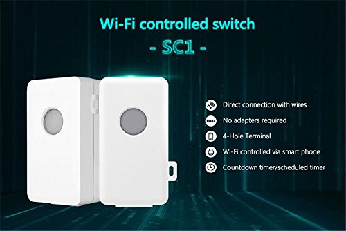 Broadlink SC1 WiFi telecomando Smart Light switch, domotica wireless controllo timer interruttore (1 pezzi), compatibile con alexa & google home - 2