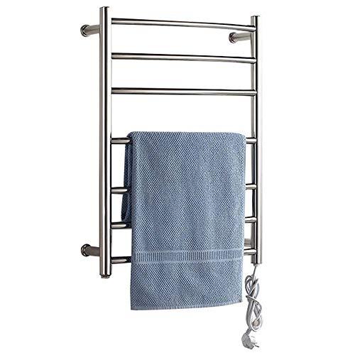 Toallero HLF eléctrico de Acero Inoxidable - Radiador de Pared baño termostático, Vertical, Estante...