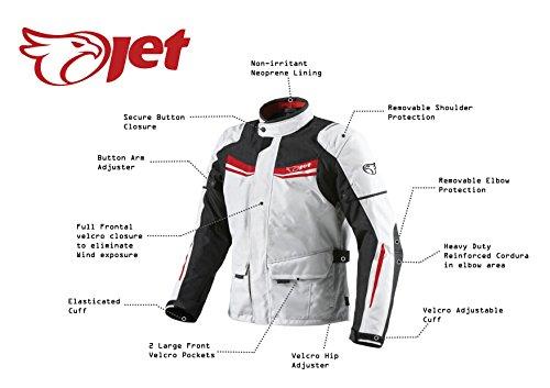Motorradjacke Textil Wasserdicht Winddicht Mit Protektoren - 3