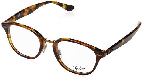 Ray-Ban Unisex-Erwachsene Brillengestell 0rx 5355 5675 50, Braun (Top Brown/Havana Yellow)