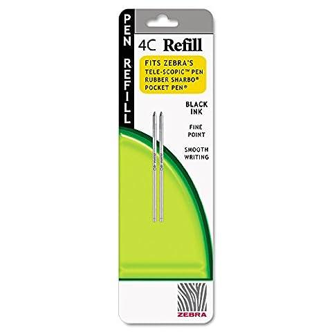 - 12 REFILLS Zebra Refill for 4C Pocket Pen, Fine, Black Ink, 2/pack by Zebra Technologies