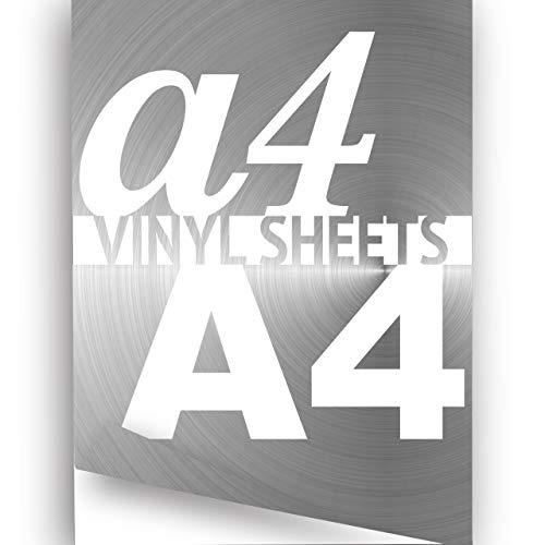 cromo argento A4297x 210mm 3x Fogli di carta adesiva in vinile effetto specchio