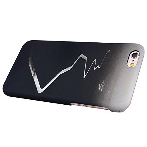GrandEver Coque iPhone 6 / iPhone 6s Dur Plastique Hard Vintage Rétro Case Etui anti chocs Anti Scratch attrape reve Back Cover pour iPhone 6 / iPhone 6s --- Noir Noir