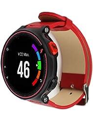 For Garmin Forerunner 235/630/230 ,Ouneed ® Correa de cuero de lujo del reloj de la banda de muñeca para Garmin Forerunner 235/630/230 (rojo)
