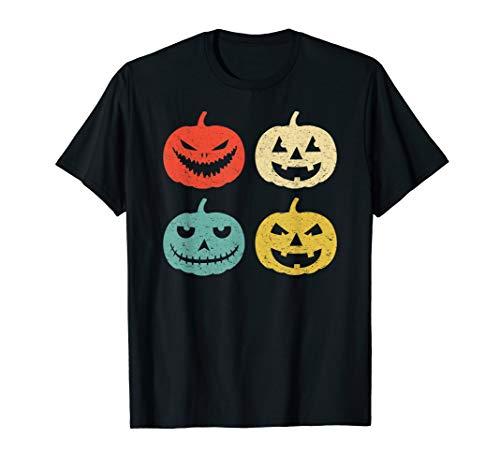 Halloween Kürbis Vintage Jack-O-Laterne T-Shirt