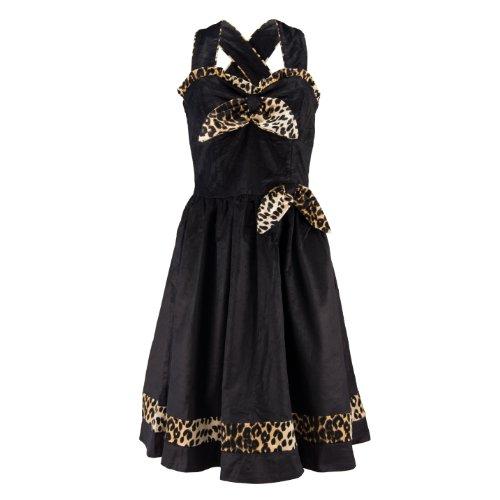 Voodoo Vixen Kleid VELVET LADY DRESS leo-black S