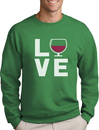 s Love Wine - Geschenkidee Pullover für Wein - Fans Sweatshirt Small Grün ()