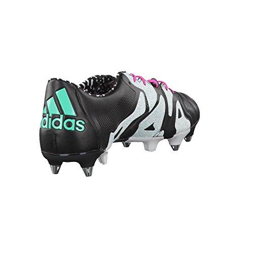 adidas Herren X 15.1 Sg Leather Fußballschuhe, Bunt Verschiedene Farben (Schwarz / Rot / Weiß (Negbas / Menimp / Ftwbla))