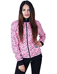 a30112a82c8bc CARBON BASICS Cotton Waffle Jacket with High Neck Collar   Zipper for  Womens   Girls
