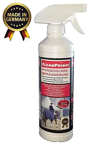 0,5 Liter CleanPrince Pferdedeckenimprägnierung Pferdedecken Imprägnierung gebrauchsfertig Imprägniermittel Fleckschutz Nässeschutz Wasserschutz