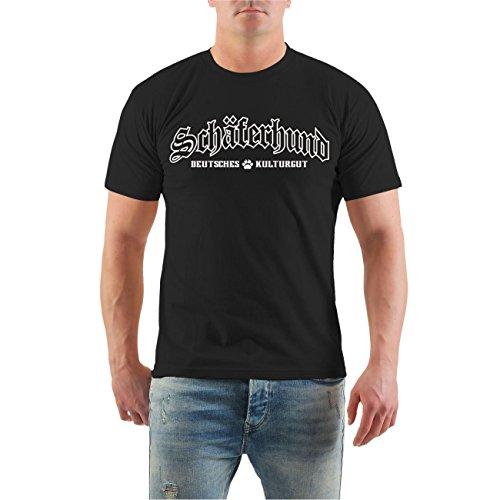 Spaß Kostet Männer und Herren T-Shirt Schäferhund - Deutsches Kulturgut (mit Rückendruck) Größe S - 8XL (Rasse Schäferhund)