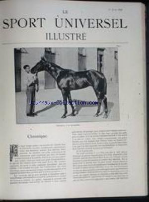 SPORT UNIVERSEL ILLUSTRE (LE) du 01/06/1896 - MONTREUIL - A M. DELAMARRE - ESCRIME - M. MIDELAIR ET LE CHEVALIER PINI - M. KIRCHHOFFER.