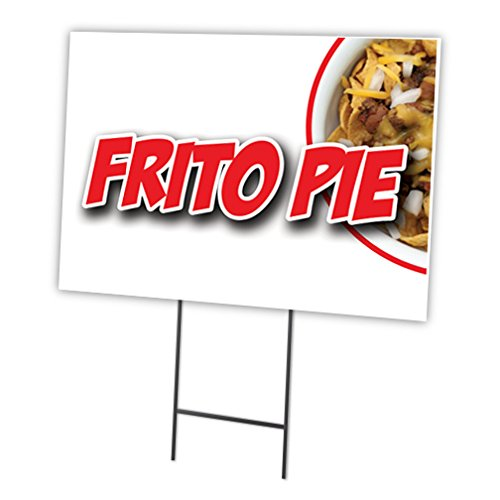 FRITO Pie 30,5x 40,6cm Yard Sign & dem Spiel Outdoor Kunststoff Coroplast Fenster