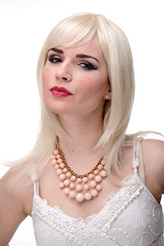 WIG ME UP - Schulterlange Damen Perücke Blond Blond-Mix glatte Haare mit Pony ca. 50 cm 3003-303/220