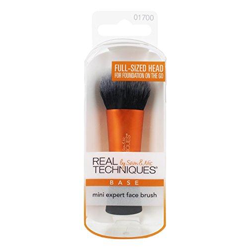 Real Techniques, Brocha para maquillaje facial (Mini expert face brush) - 1 Unidad