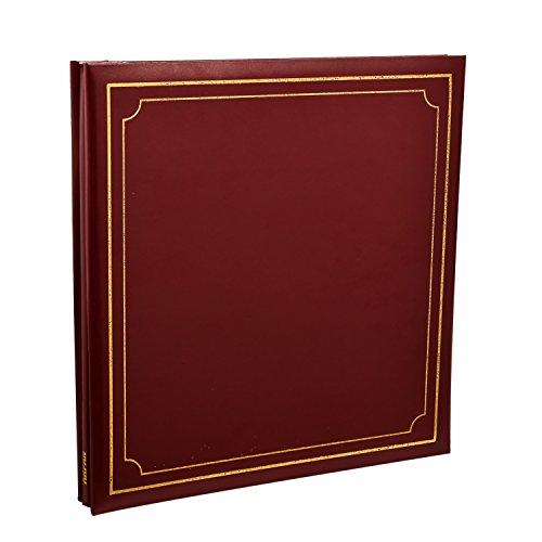 Arpan Fotoalbum 32x 26cm extra große Fotoalbum, selbstklebend 24/Blatt 48/Seiten Leder Look gepolstert Post Bound-Rot (Fotoalbum Extra Großes)