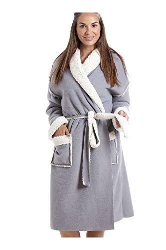 Camille Aux femmes Divers Style et Couleur Doux Polaire Peignoir 42/44 Stay Soft Grey