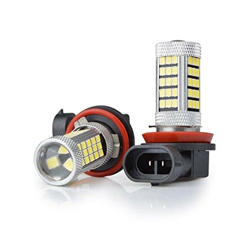 Preisvergleich Produktbild Aznoi 2pcs Nebelscheinwerfer birne led ,  63 SMD Einbaulampe Autolampe ,  vordere Nebel-Lichter für Auto. 30W