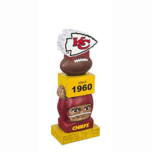 Team Sports America Kansas City Chiefs Vintage NFL Tiki Totem Statue Kansas City Chiefs Uniform