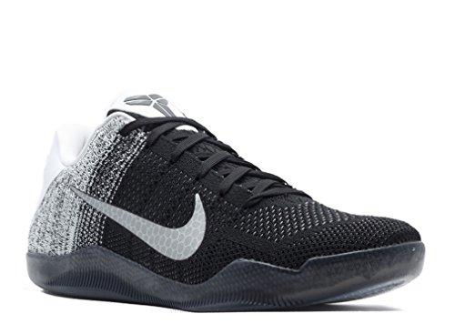 Nike Herren Kobe Xi Elite Low Basketballschuhe Weiß / Schwarz / Lila (Weiß / Schwarz-Court Purple)