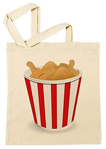 Frit Poulet Sac à Provisions Plage Coton Réutilisable Shopping Bag
